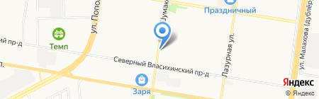 Гавань на карте Барнаула