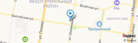 Браво на карте Барнаула