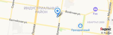 Манго на карте Барнаула