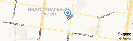 Аврора на карте Барнаула