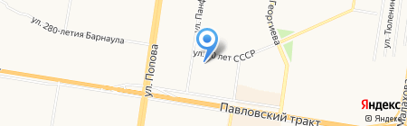 Семь листовок на карте Барнаула