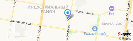 Бабетта на карте Барнаула
