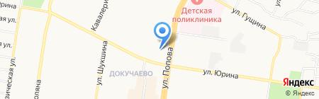 Терем на карте Барнаула