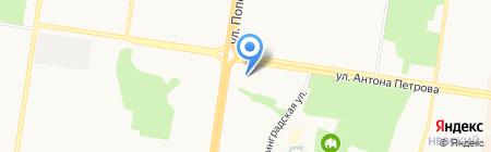 Канэкст на карте Барнаула