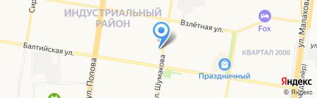 Шар-М на карте Барнаула