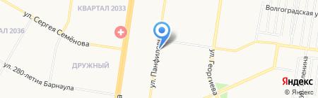 Протектор на карте Барнаула
