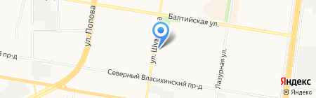 Русский сапожок на карте Барнаула