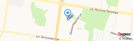 Детский сад №235 на карте Барнаула