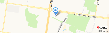 Камертон на карте Барнаула