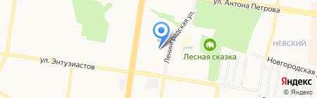 Гимназия №123 на карте Барнаула