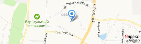 Средняя общеобразовательная школа №113 им. С. Семенова на карте Барнаула