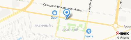 Модерн на карте Барнаула