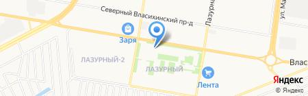 Небо на карте Барнаула