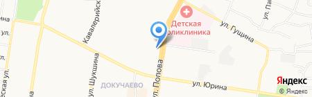 Утёнок на карте Барнаула