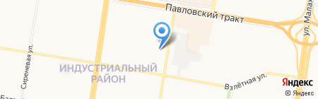 Май на карте Барнаула