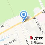 Газпром газораспределение Барнаул на карте Барнаула