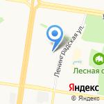 Ленинградское на карте Барнаула