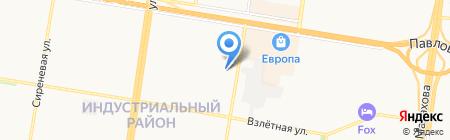 Рыболовный комок на карте Барнаула