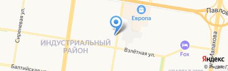 100 Авто на карте Барнаула