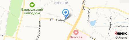 Кондитерский магазин на карте Барнаула