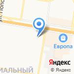 Каскад на карте Барнаула