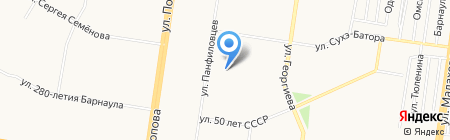 Строка на карте Барнаула
