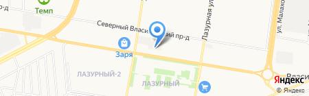 У Сергея на карте Барнаула