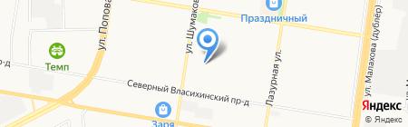 Детский сад №253 на карте Барнаула