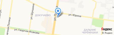 Евгения на карте Барнаула