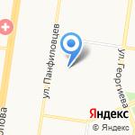 У дома на карте Барнаула