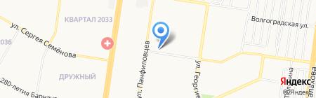Церкон на карте Барнаула