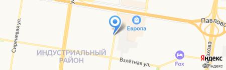 Продуктовый магазин на ул. Шумакова на карте Барнаула