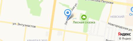 Автостоянка на Ленинградской на карте Барнаула
