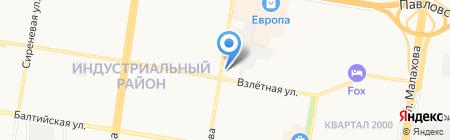 Транспоток на карте Барнаула