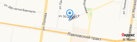 Лицей №101 на карте Барнаула