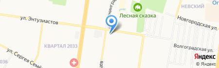 Камея на карте Барнаула