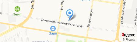 Соло на карте Барнаула