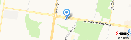 Полина на карте Барнаула