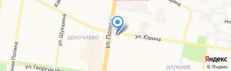 Гаяне на карте Барнаула