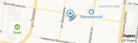 Окна-Престиж на карте Барнаула
