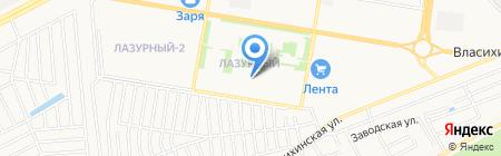 Детский сад N266 на карте Барнаула