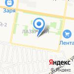 Детский сад №266 на карте Барнаула