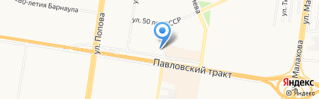 Охотский берег на карте Барнаула