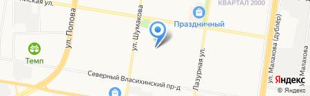 Виржиния на карте Барнаула