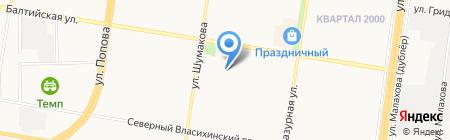 АВТОШКОЛА ЗА РУЛЕМ на карте Барнаула