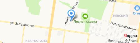 Горизонт на карте Барнаула