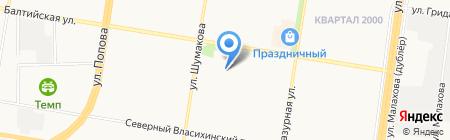ART-GLAMOUR-DANCE на карте Барнаула
