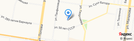 Детский сад №219 на карте Барнаула
