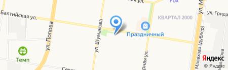 Русалочка на карте Барнаула