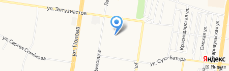 Детский сад №174 на карте Барнаула